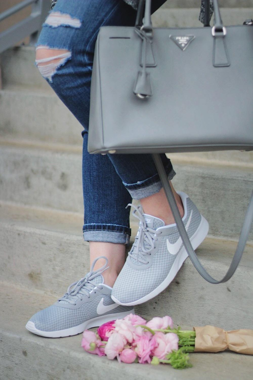 grey nikes street style
