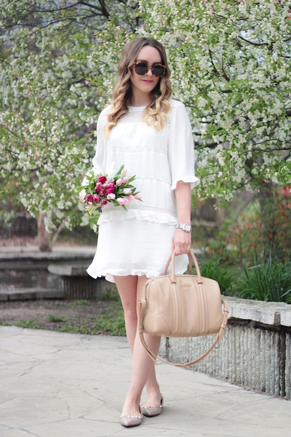 white dress summer style