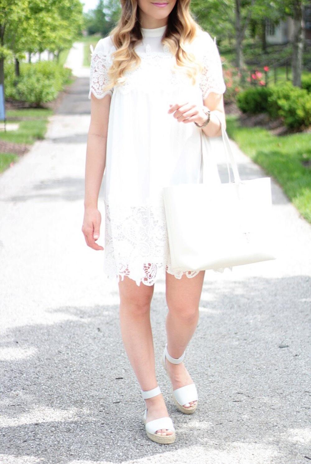 white dress fashion blogger