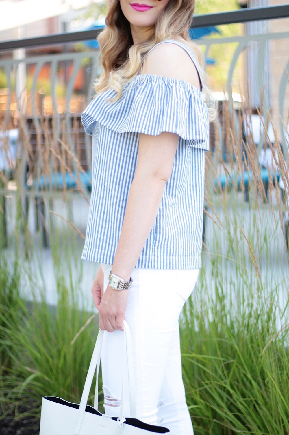 jcrew off-the-shoulder top
