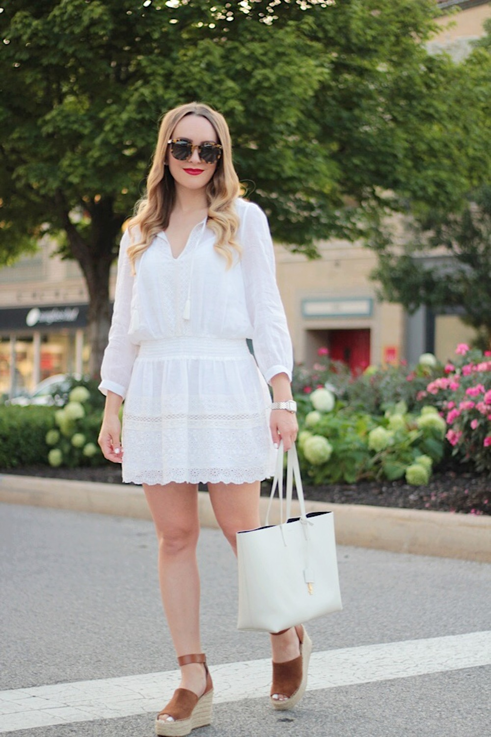 white and wedges