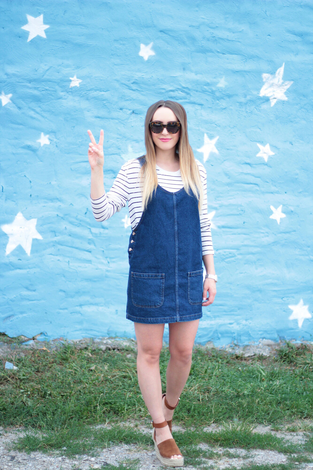 denim dress fashion blogger
