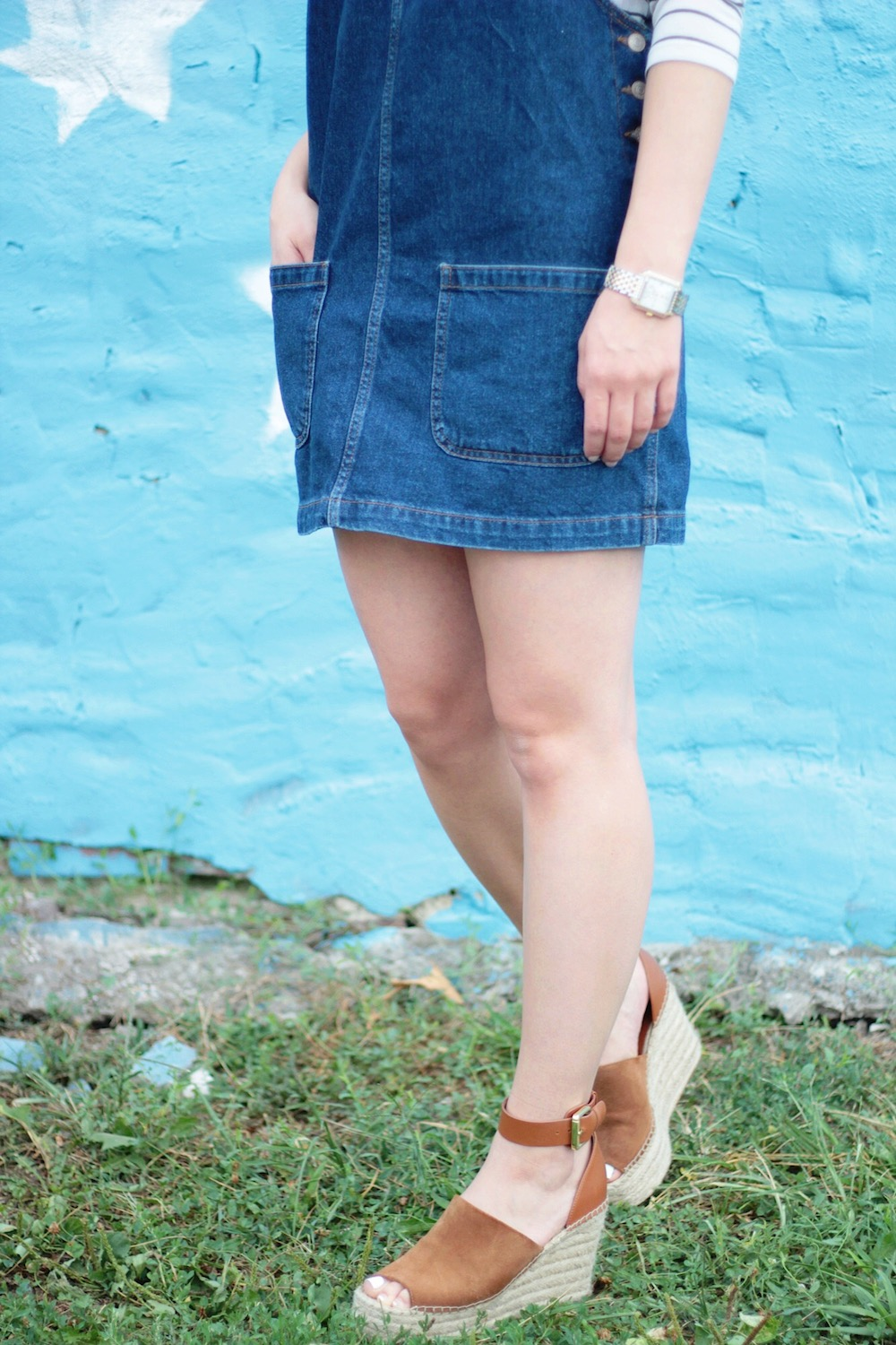 denim pinafore dress rachel puccetti