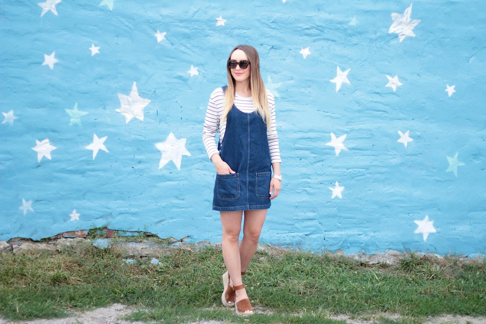 denim pinafore dress topshop