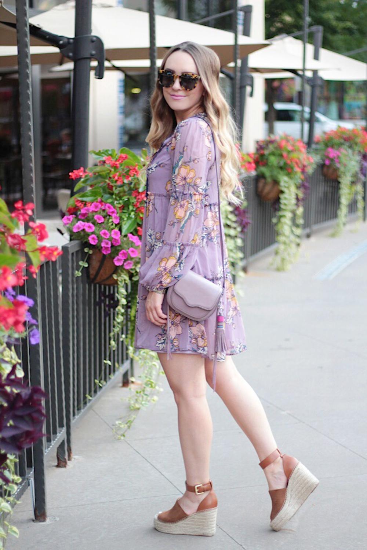 lilac floral dress under 30
