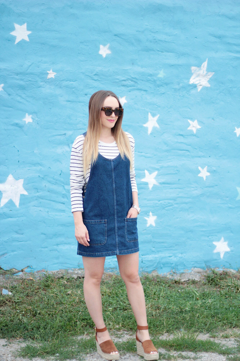 nordstrom denim dress fashion blogger
