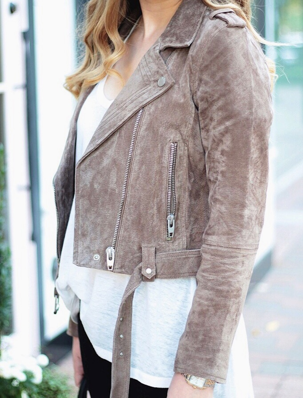 fall must have suede moto jacket rachel puccetti between two coasts
