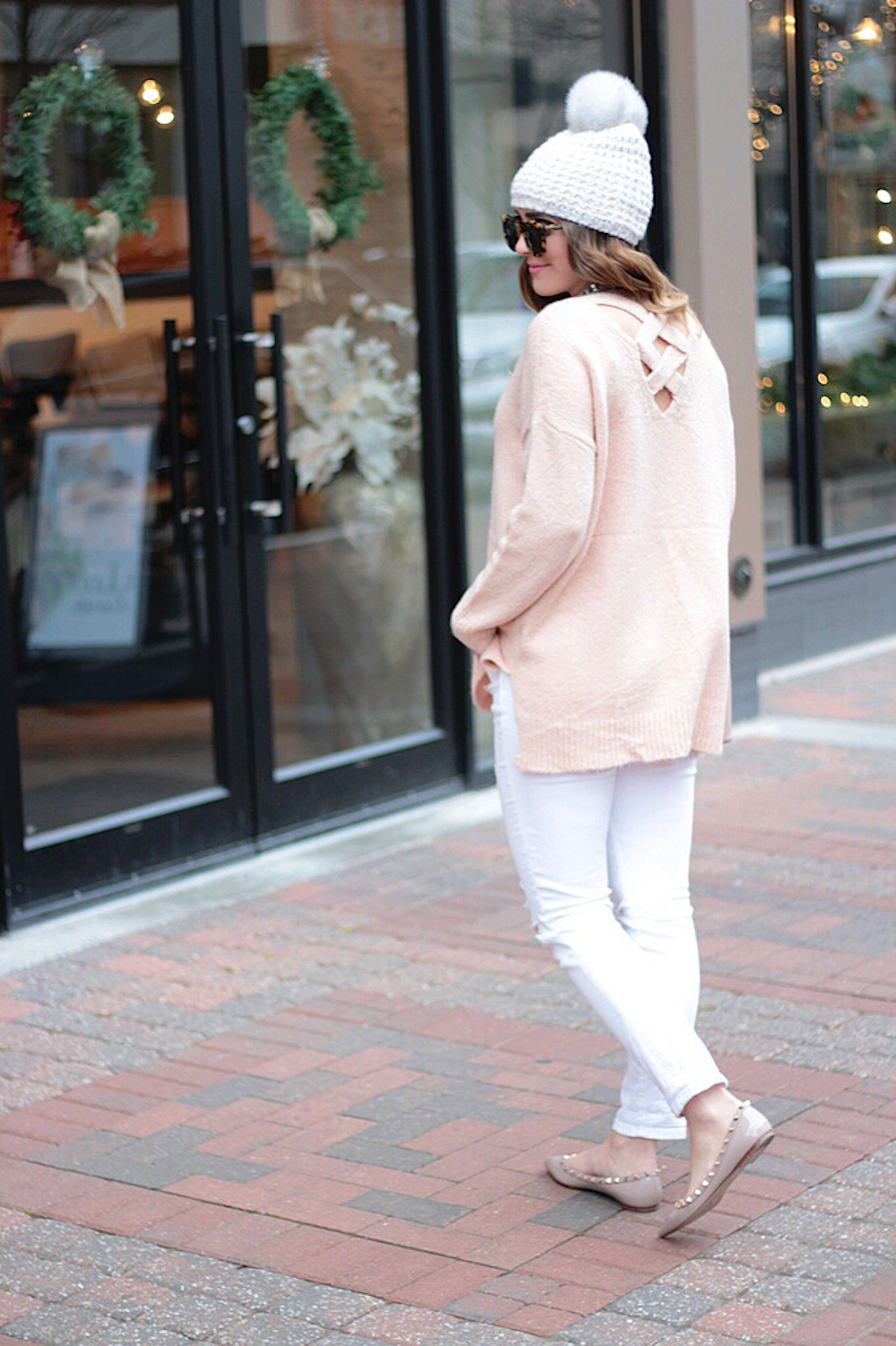 nordstrom blush pink sweater rachel puccetti