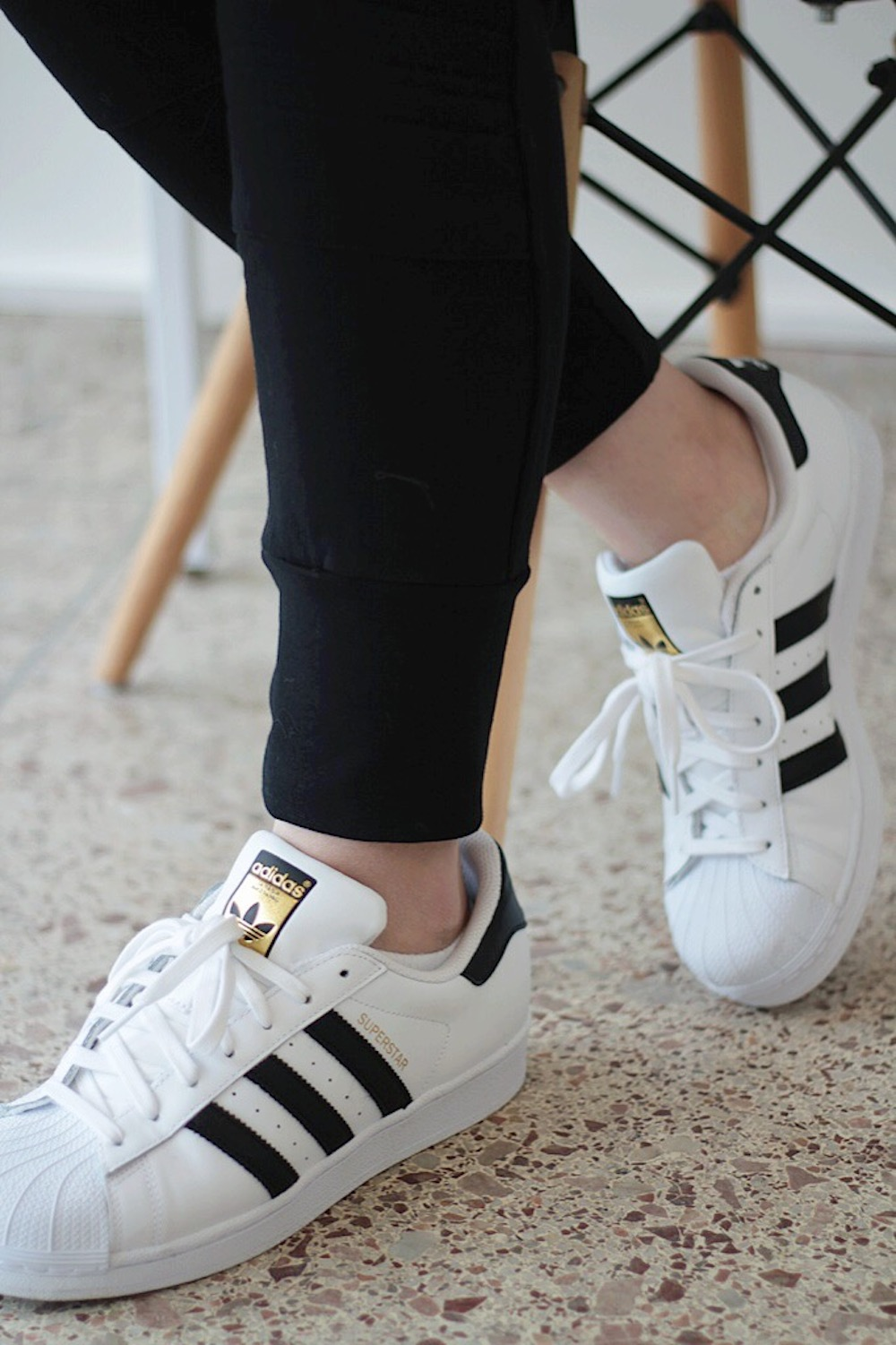 black adidas superstars rachel puccetti between two coasts