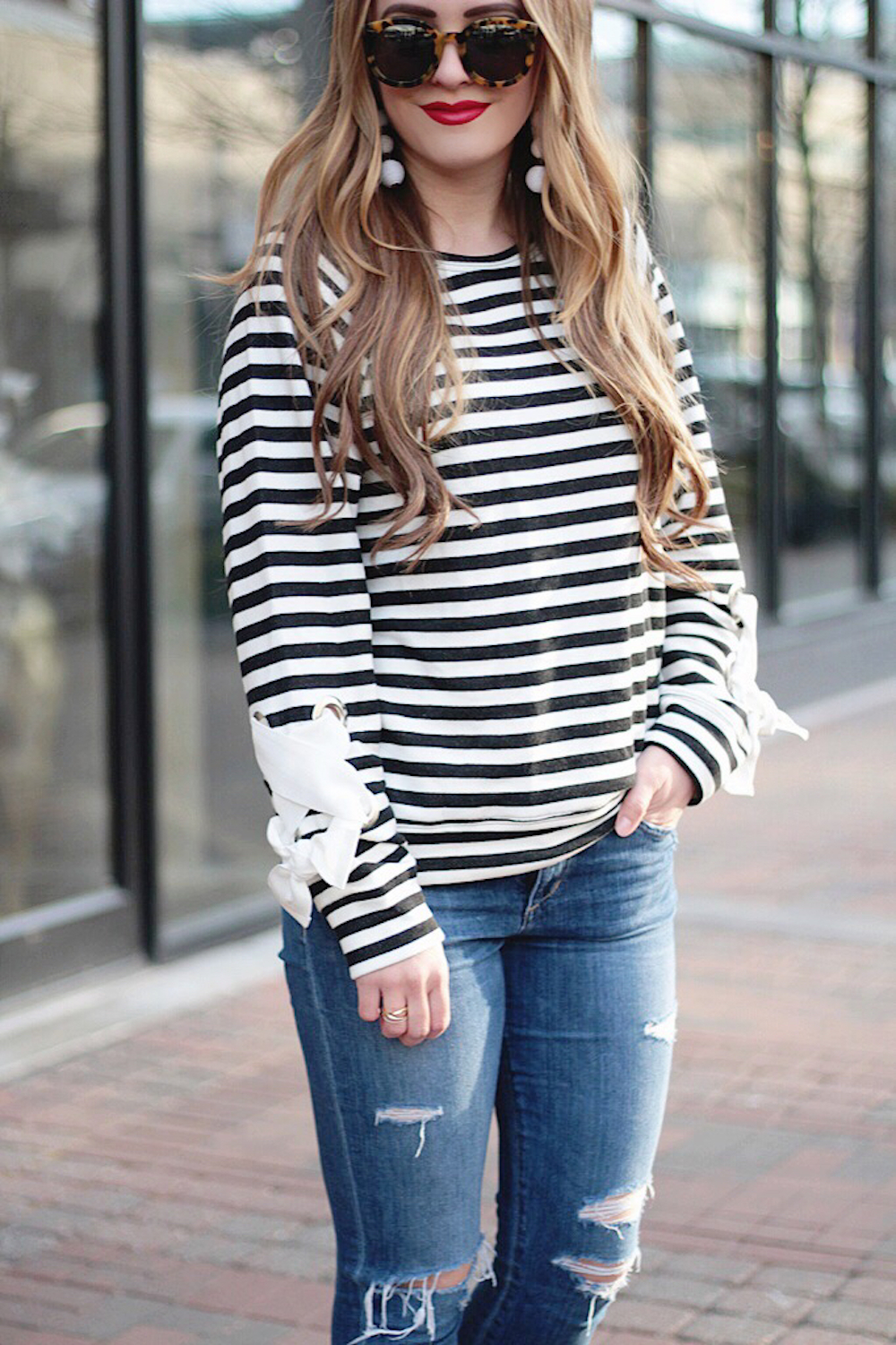 nordstrom tie sleeve sweatshirt rachel puccetti between two coasts