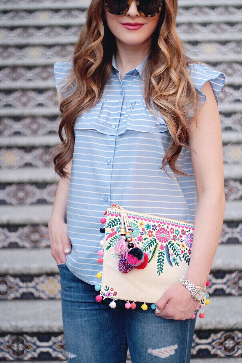 ruffle who what wear top rachel puccetti between two coasts