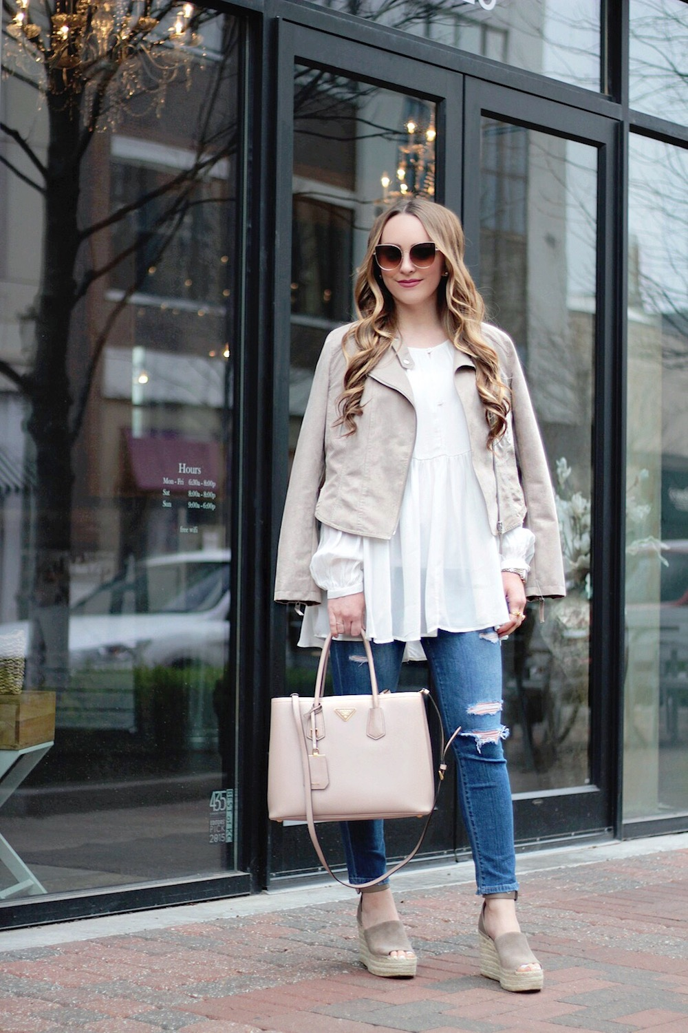 suede moto jacket fashion blogger style rachel puccetti between two coasts