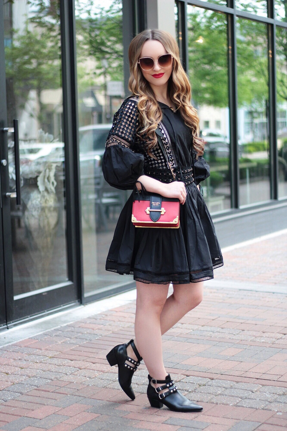 endless rose black dress rachel puccetti between two coasts