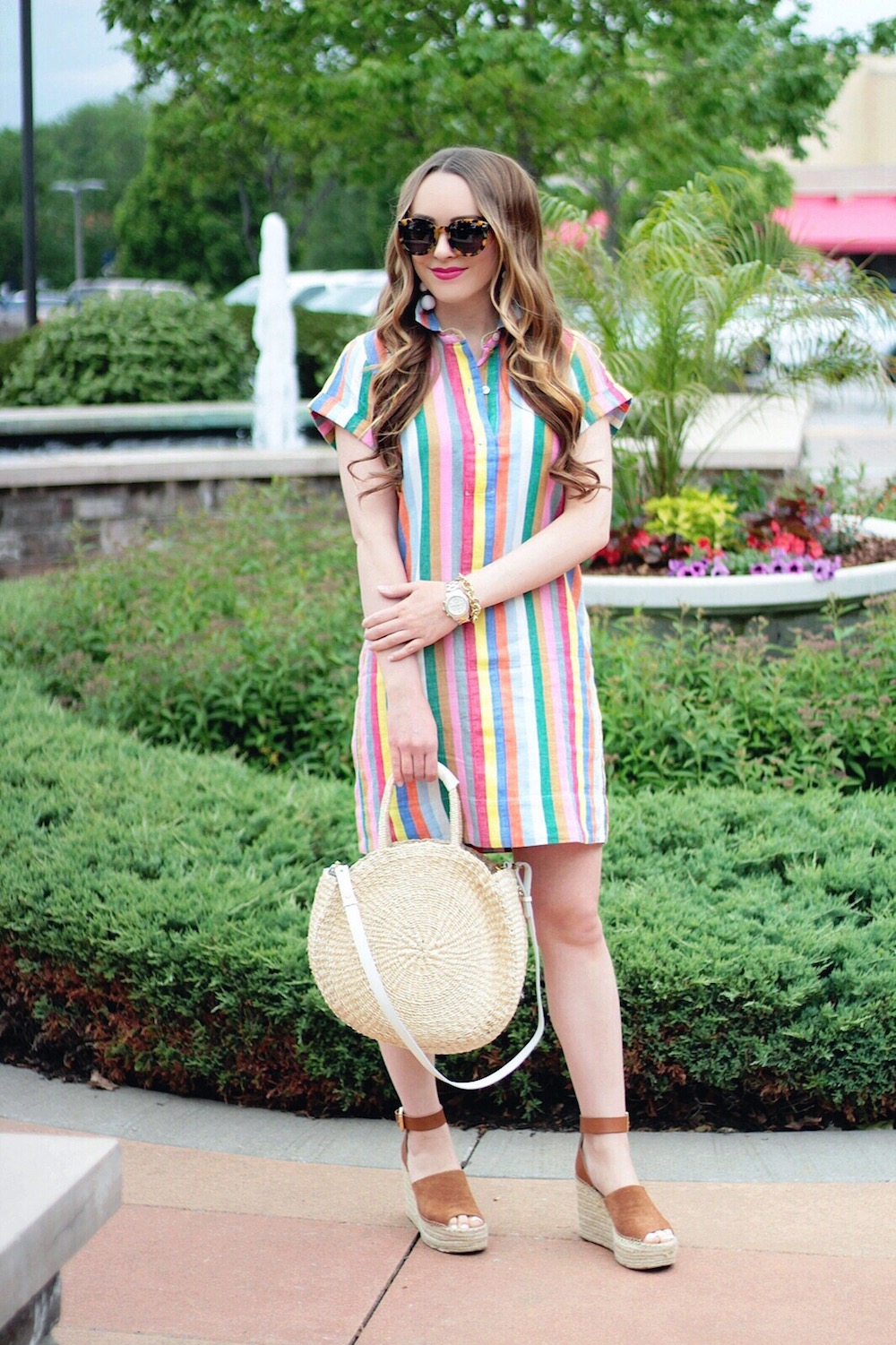 outfit inspiration striped shirtdress rachel puccetti between two coasts