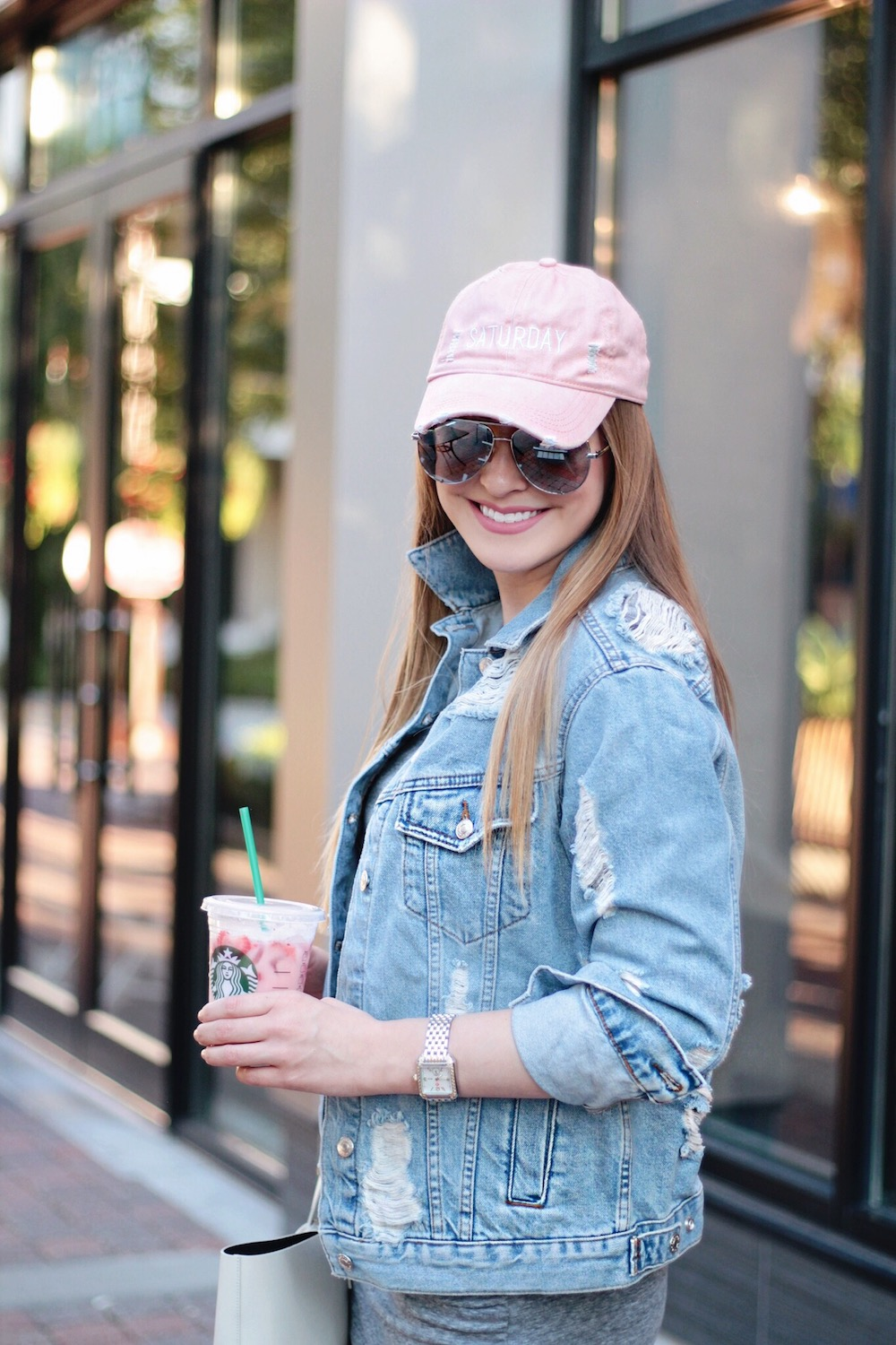 saturday style denim jacket rachel puccetti