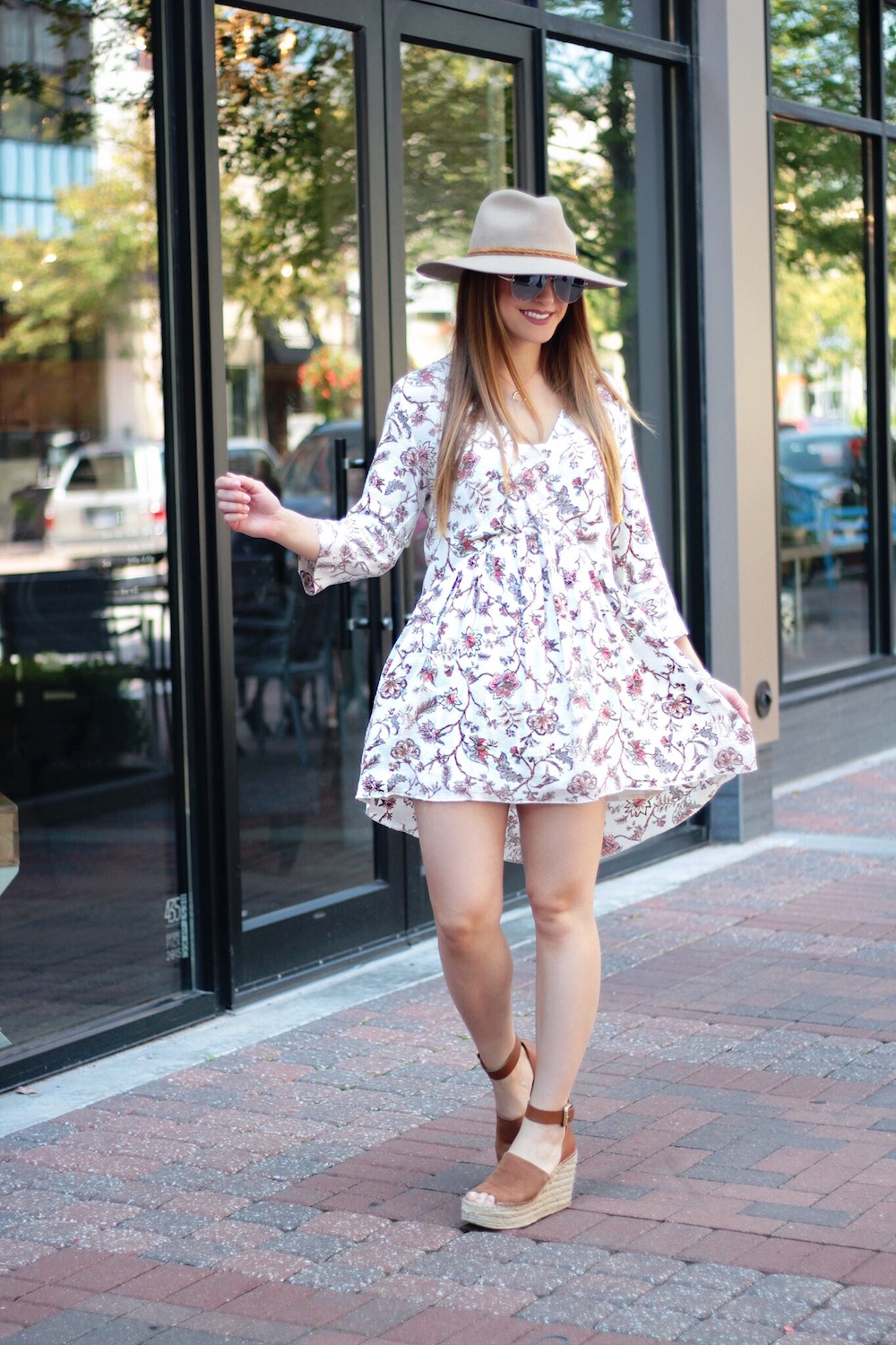 floral dress for fall rachel puccetti between two coasts