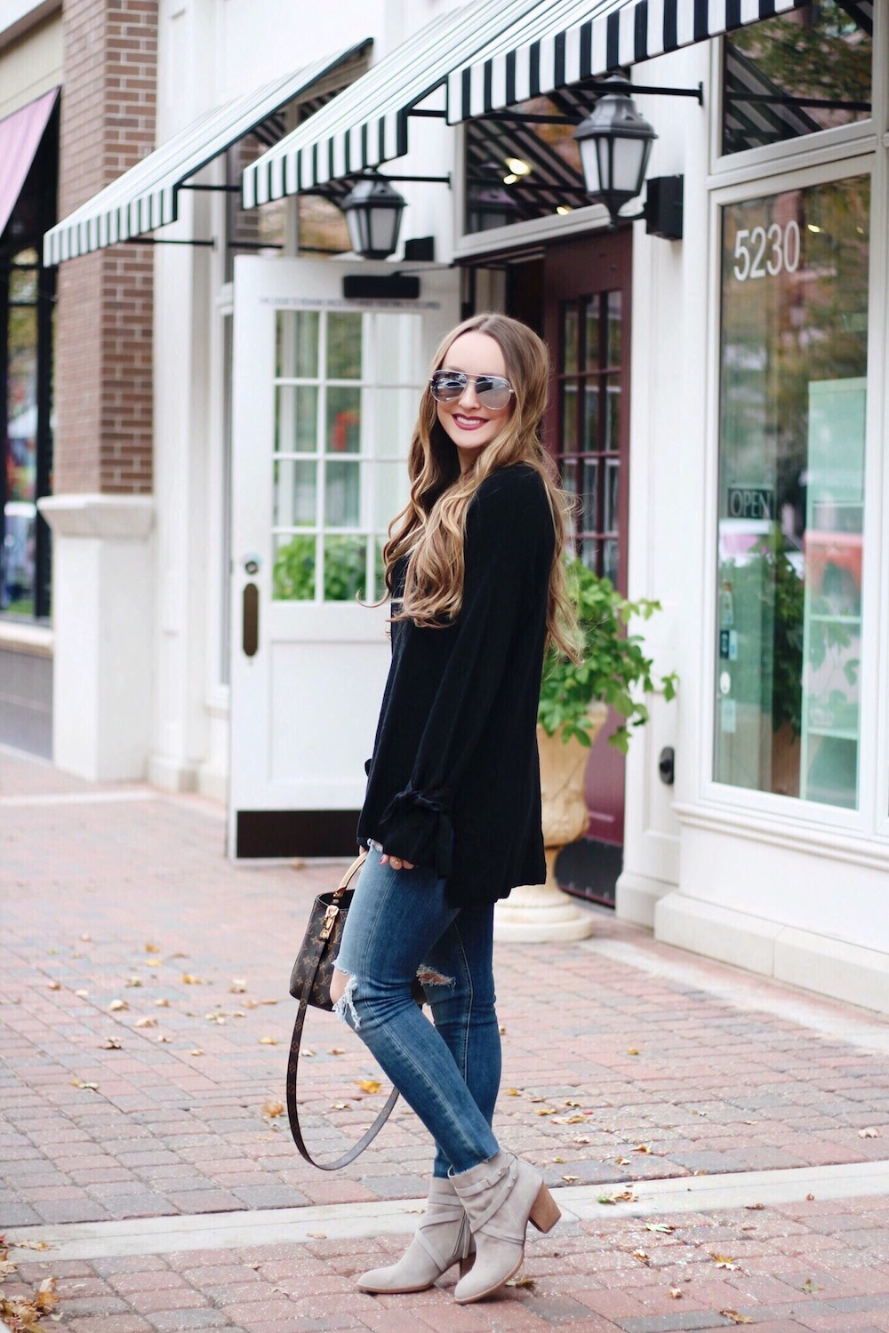 tie sleeve sweater fall style rachel puccetti