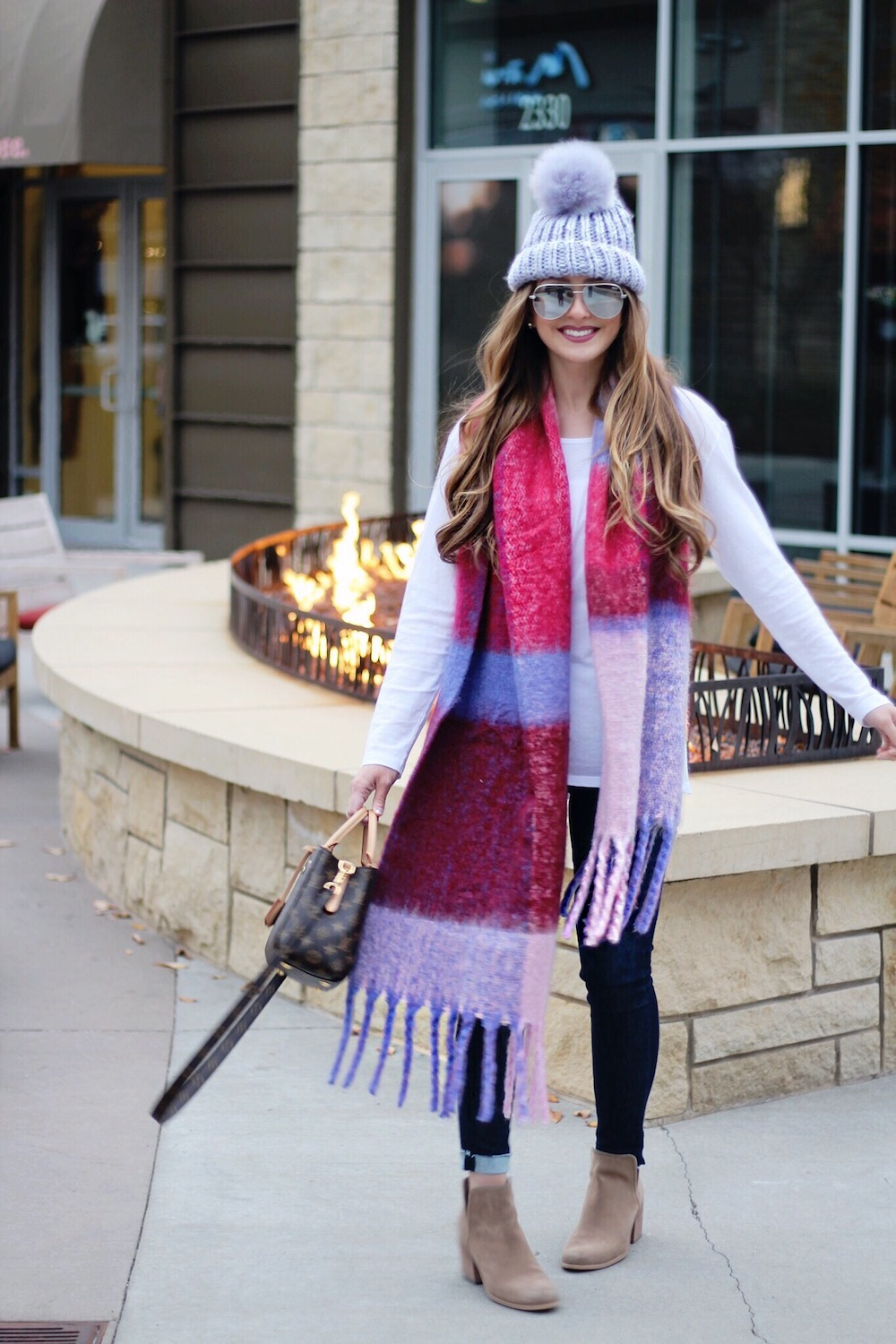 cozy scarf winter outfit rachel puccetti between two coasts