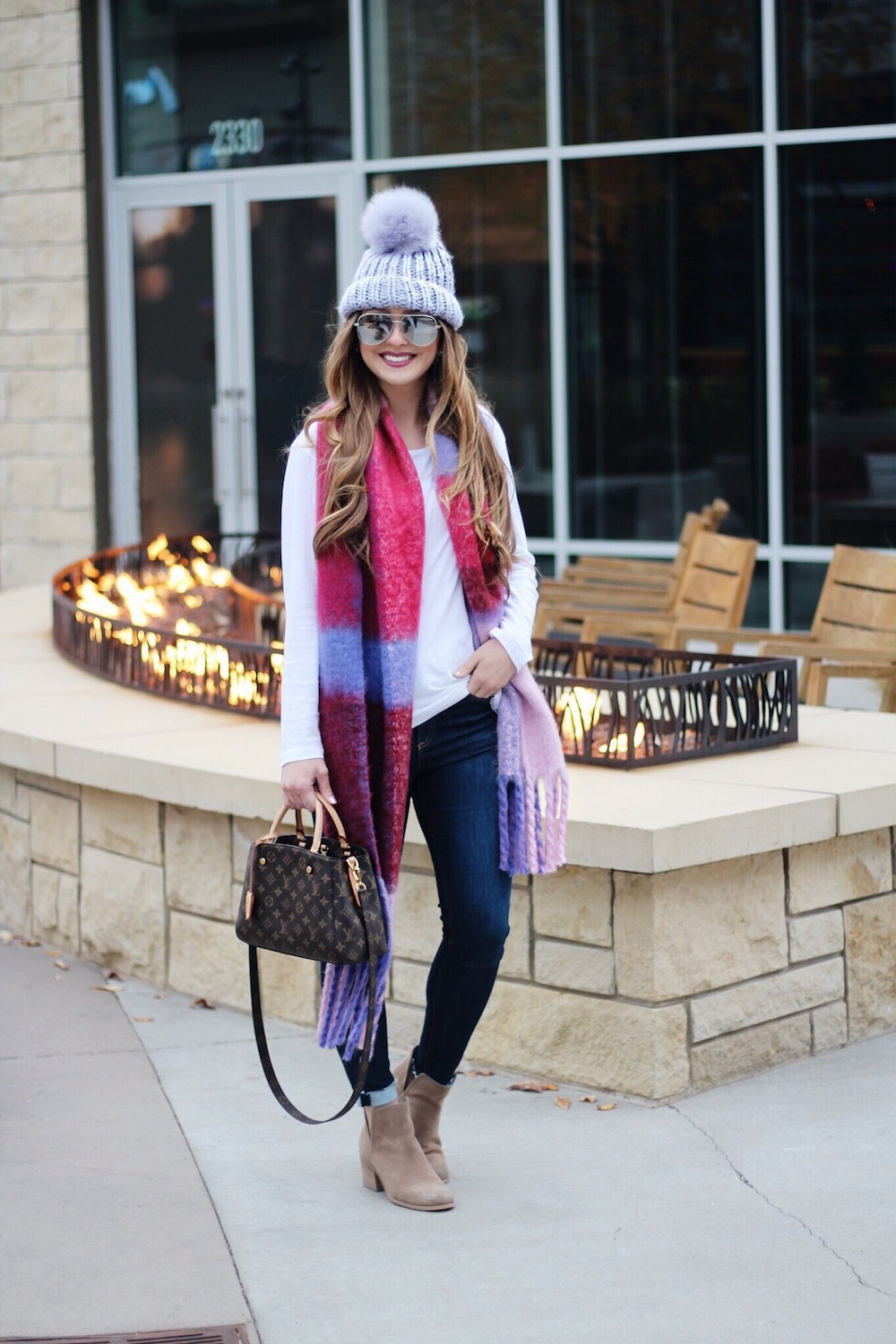 winter jewel tones outfit rachel puccetti