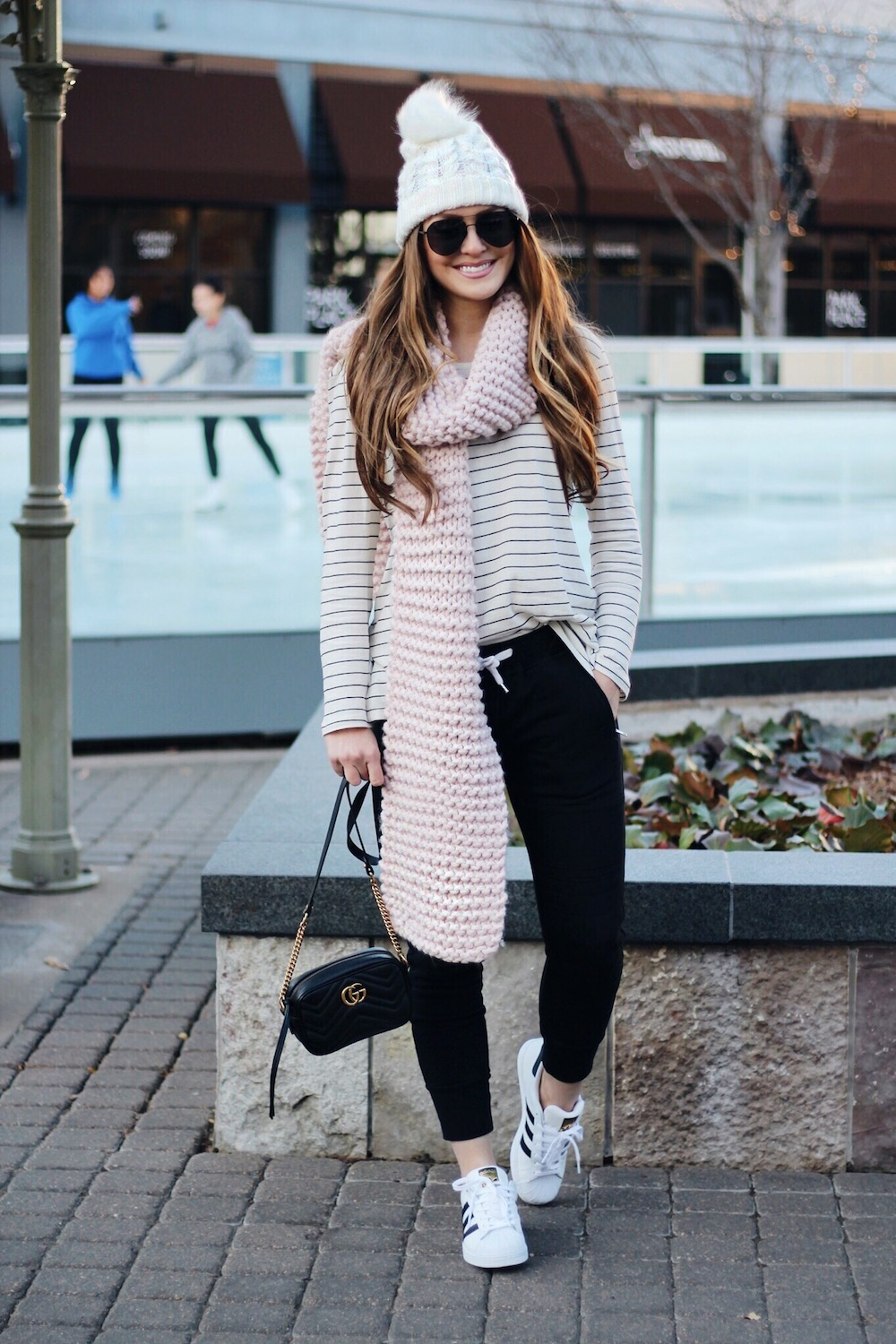 winter style joggers rachel puccetti between two coasts
