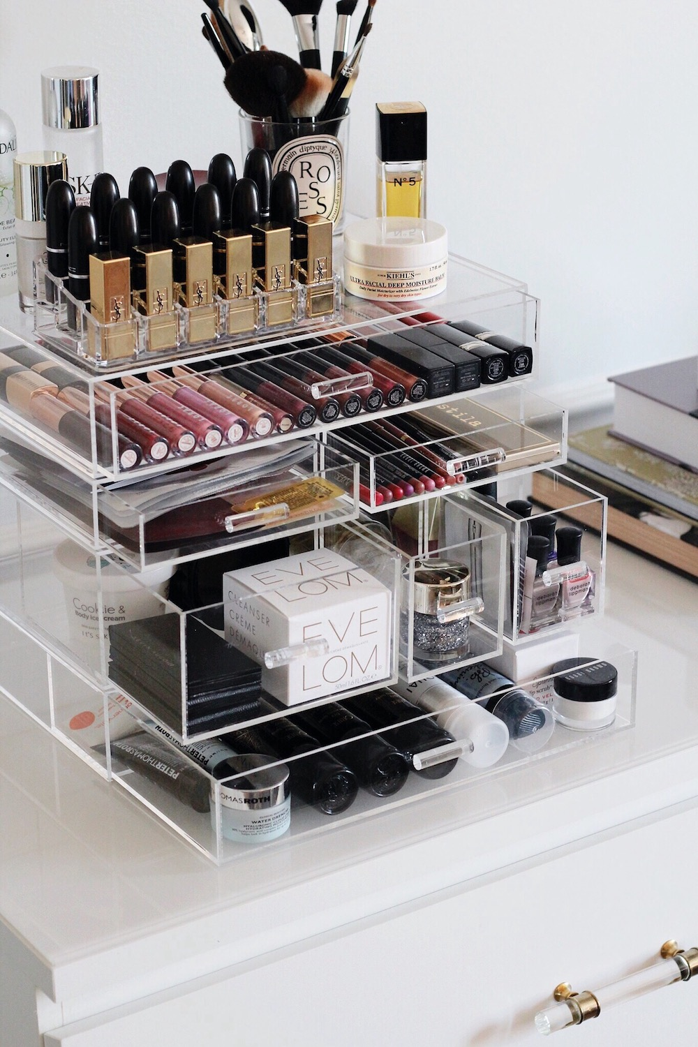 acrylic makeup organizer rachel puccetti between two coasts