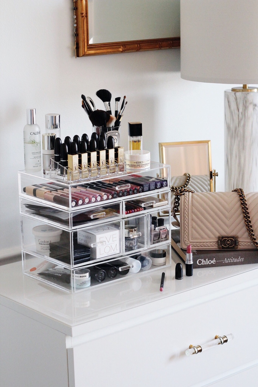 how i organize my makeup rachel puccetti between two coasts