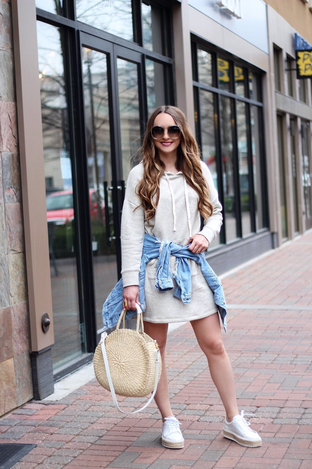 spring style sweatshirt dress rachel puccetti between two coasts
