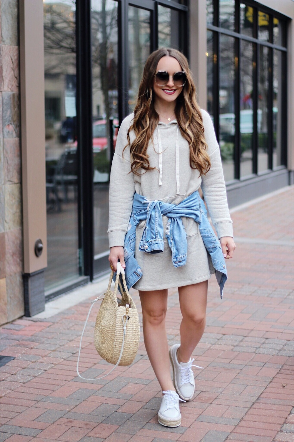 the perfect sweatshirt dress rachel puccetti between two coasts