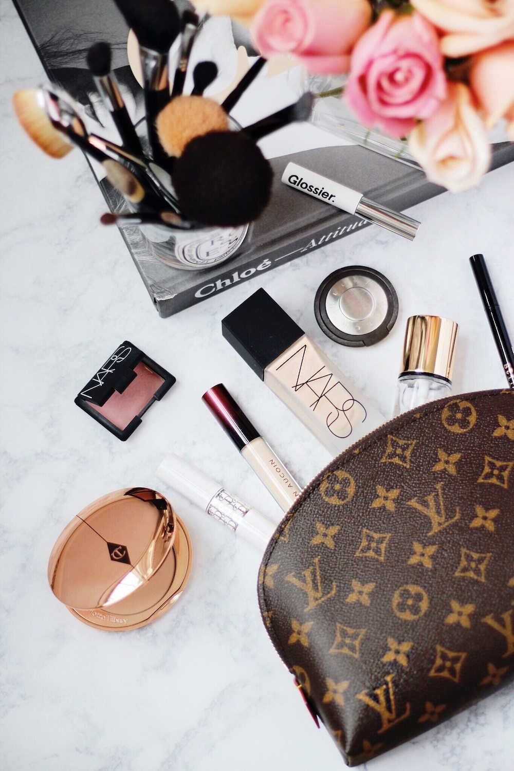whats in my makeup bag rachel puccetti between two coasts