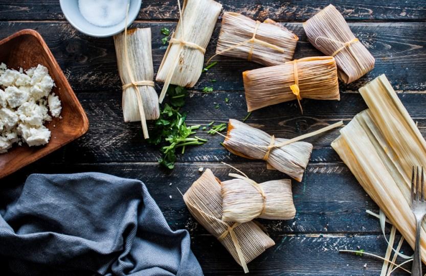 Paleo Blue Corn Tamales