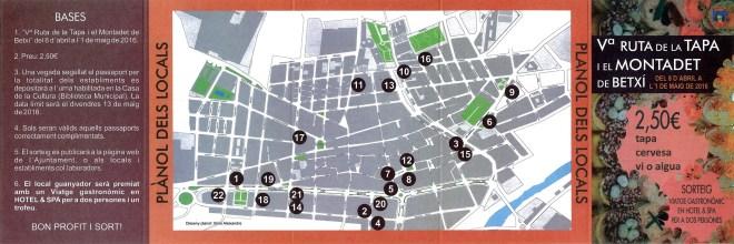 Ruta de la tapa: bases i mapa