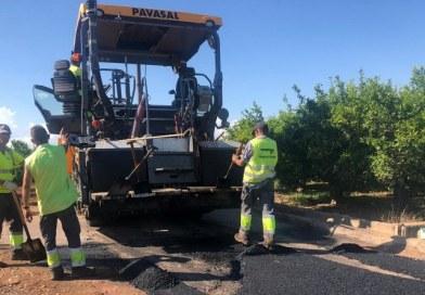 Betxí destina més de 350.000 euros a l'asfaltat de camins rurals