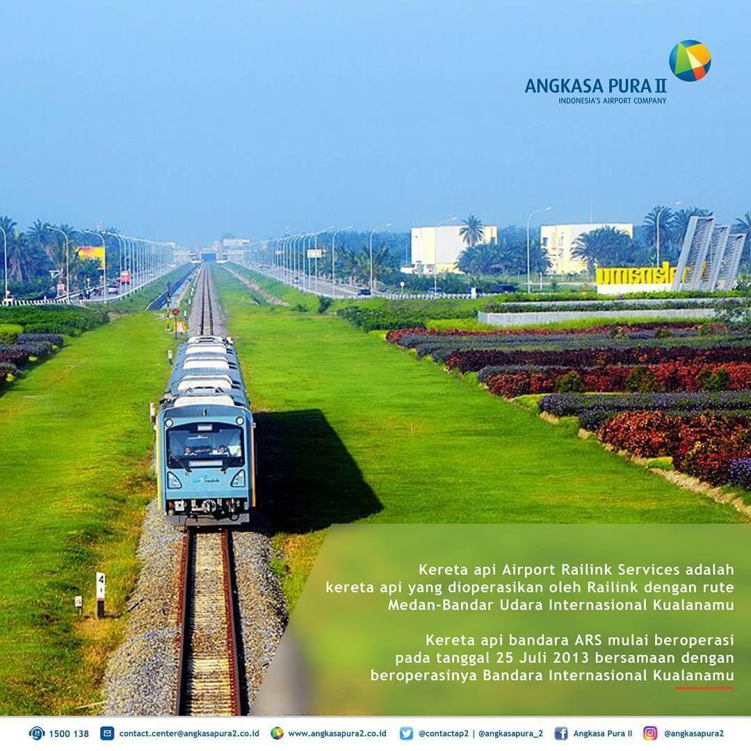 Kereta api yang menghubungkan Kualanamu dan Medan