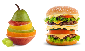 Burger-fruits