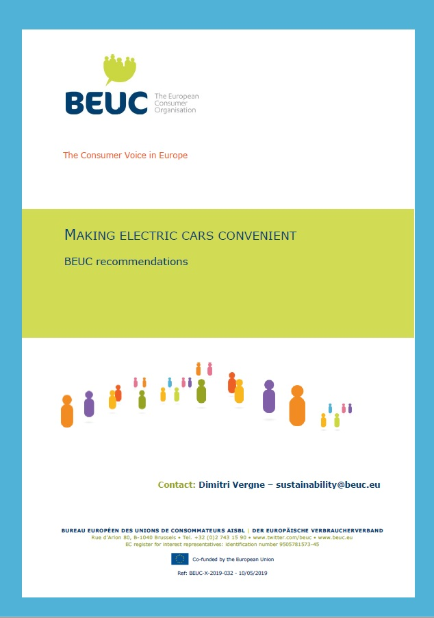 """Picture of the cover of a PDF document titled """"Making electric cars convenient"""""""