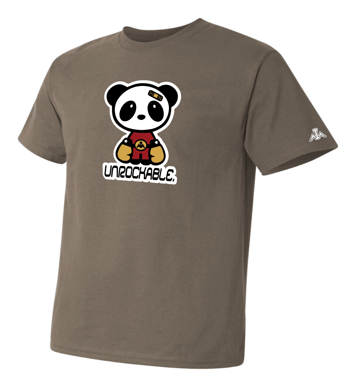Red Gold Charcoal Gray T Shirt Be Unrockable