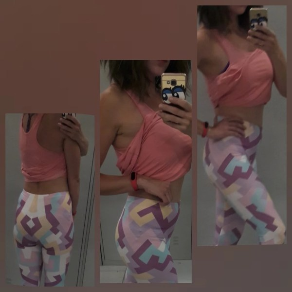 Geometric Shapes Pink Leggings photo review