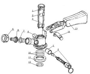 Kegco KTS97DW  Stainless Steel D System Keg Tap Coupler