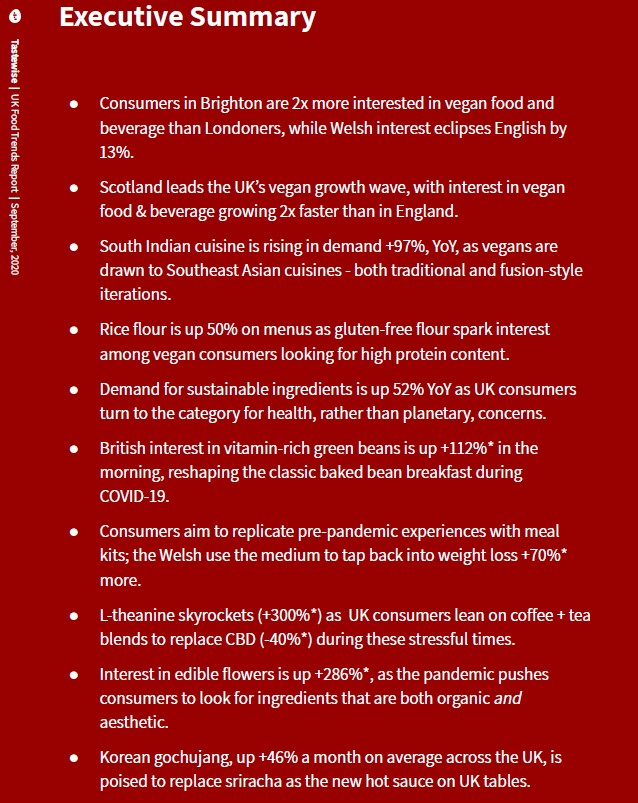 Click here to see full report on UK Food Trends Report - September 2020