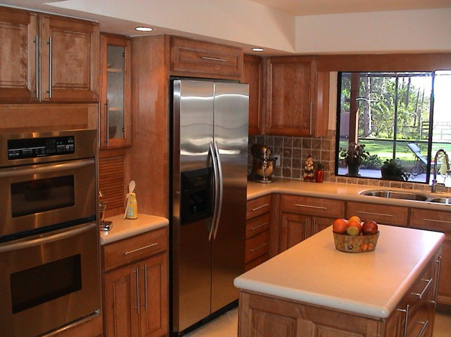 Maple Kitchen with Corian® Aurora Countertops « Beverin ... on Countertop Colors For Maple Cabinets  id=39446
