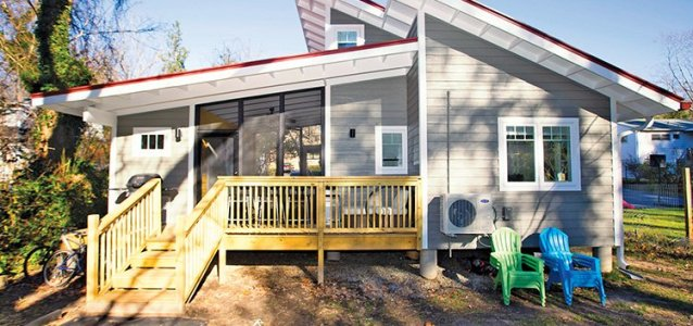 Tiny homes are a popular option in Asheville.