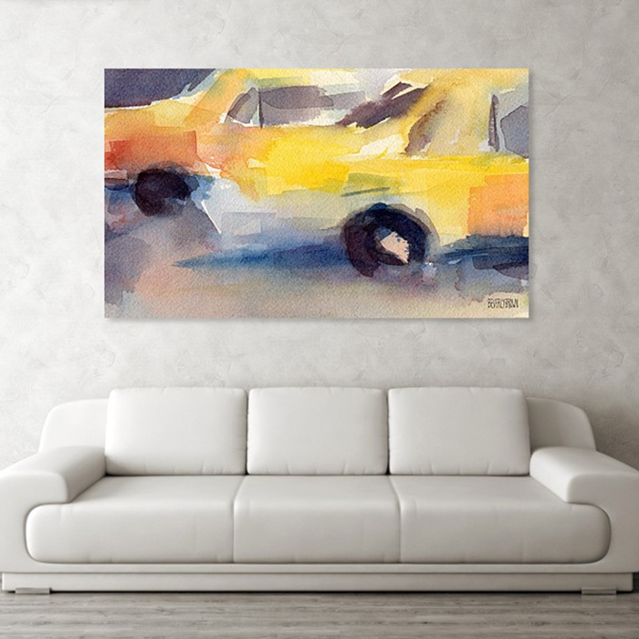 Yellow Taxi Cabs NYC - New York Taxi Art - Beverly Brown Artist