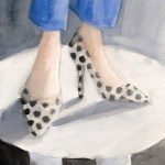 Polka Dot Shoes – Watercolor Fashion Illustration