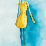 Inspired by Cacharel – Watercolor Fashion Illustration
