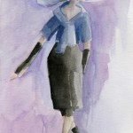 Inspired by Marc Jacobs Watercolor Fashion Illustration