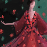 Red Petal Gown: New York Fashion Week