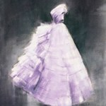 Lavender and Gray Fashion Art