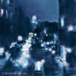 New York High Line Night Scene Paintings