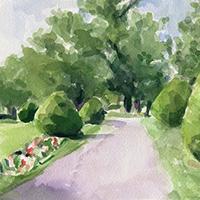 Summer Stroll – Boston Public Garden Art Print