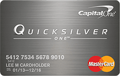 Image result for capital one quicksilverone